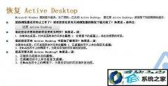 帮您还原win7系统开机桌面提示恢复active desktop的教程?