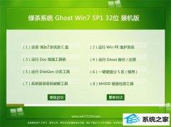 绿茶系统Win7 优化装机版32位 2021.04