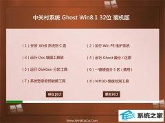 中关村Windows8.1 2021.04 32位 稳定装机版